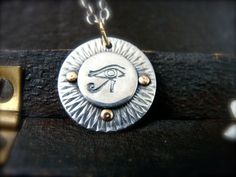 wedjat  protection amulet by sirenjewels on Etsy, $48.00