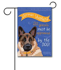 """German Shepherd Garden Flag: Flag Size: 12.5"""" x 18"""" Flag stand sold separately Proudly Printed in the USA Vibrant colors printed on a poly/cotton outdoor quality fabric. Digitally print"""