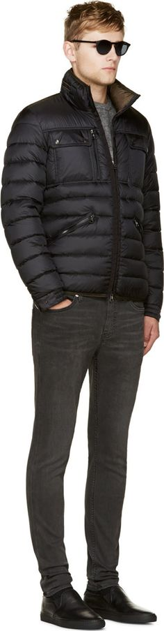 Moncler Black Quilted Down Norbert Jacket