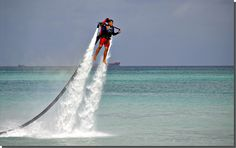 Is this a water jetpack!!?! I know one person that would absolutely want to do this (me!) #aioutlet