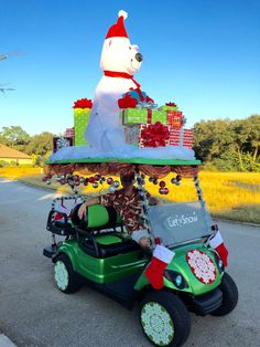christmas golf cart parade