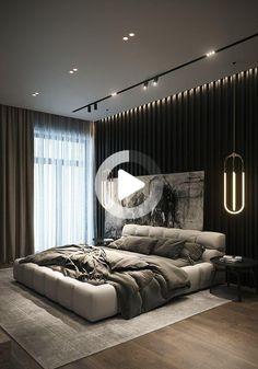 Bedroom ideas and bedroom inspirations Modern Luxury Bedroom, Luxury Bedroom Design, Master Bedroom Interior, Modern Master Bedroom, Home Room Design, Dream Home Design, Master Bedroom Design, Minimalist Bedroom, Luxurious Bedrooms