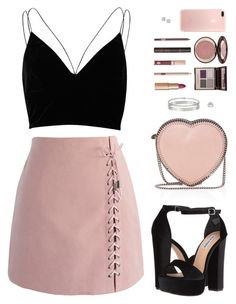 """Sin título #4334"" by mdmsb on Polyvore featuring moda, River Island, Chicwish, Steve Madden, STELLA McCARTNEY, Cartier, Nicole By Nicole Miller, Charlotte Tilbury y Effy Jewelry"