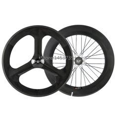 379.00$  Buy here - http://alid5g.shopchina.info/1/go.php?t=32590036553 - Front 70mm 3 spoke wheel rear 88mm carbon wheelset for track bike fixed gear clicher carbon wheels  #buymethat
