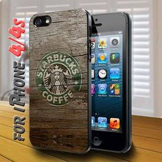 vintage starbucks coffee logo wood layer - design case for iphone 4,4s | shayutiaccessories - Accessories on ArtFire