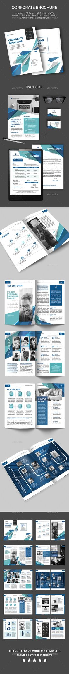 Corporate Brochure  — InDesign Template #company brochure #modern • Download ➝ https://graphicriver.net/item/corporate-brochure/18519747?ref=pxcr