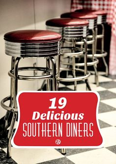 I think a road trip to eat at 19 of the MOST delicious Southern Diners would be a fantastic trip. From pulled pork BBQ to the best fried chicken and lots of sweet tea! Road Trip Food, Road Trip Usa, Usa Roadtrip, Places To Eat, Places To Travel, Retro Diner, New England Travel, I Want To Travel, Summer Travel
