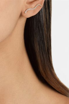 Sophie Bille Brahe|18-karat gold diamond earring|NET-A-PORTER.COM