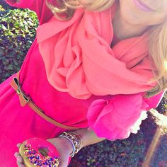 We are loving the different shades of pink in this outfit!