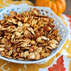 Use up extra pumpkin seeds with this Salted Caramel recipe—yum!