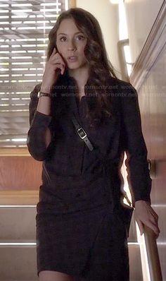 Spencer's plaid shirtdress with crossbody bag