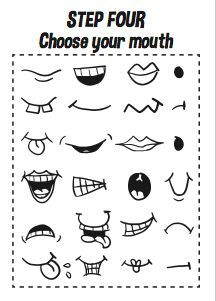 How to draw cartoon faces - printable workbook Design the dream, # workbook . - How to Draw Cartoon Faces – Printable Workbook Design the Dream, # briefcase - Funny Face Drawings, Doodle Drawings, Funny Faces, Cartoon Drawings, Easy Drawings, Doodle Art, Drawing Cartoon Characters, Cartoon Mouths, Cartoon Eyes