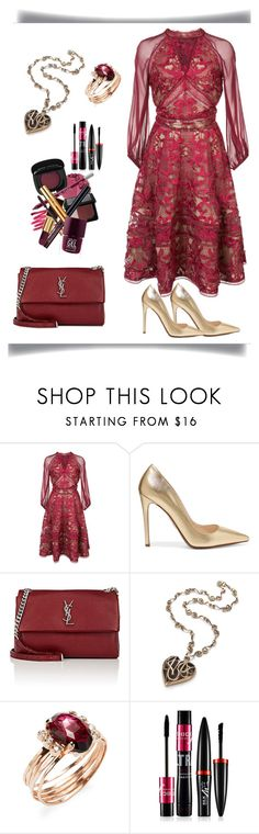 """Untitled #527"" by izzystarsparkle ❤ liked on Polyvore featuring Notte by Marchesa, Prada, Yves Saint Laurent and Jacquie Aiche"