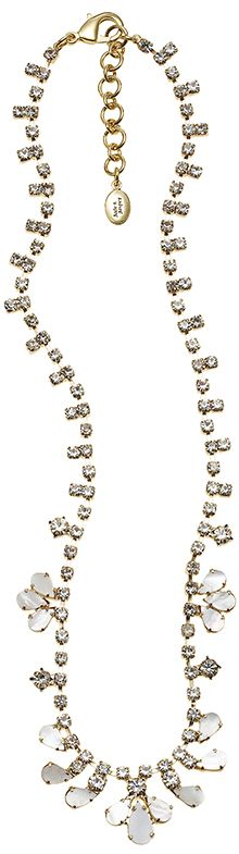 The Luminous Jelissa #Necklace is a simple but elegant addition to any #wedding dress