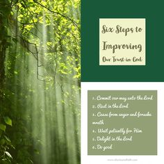 Six Steps to Improving Our Trust in God. Lauren Dailge. Trust in You. Christian Music. Music. Music Worship. Worship Music. Worship. Faith. Faith in God. Trust God. Trust in God's Promises. Psalms 37. Bible. Faith Blogger. Christian Blogger. LDS Blogger. Of Unity and Faith.