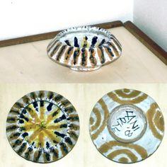 ciotola ocra e marro in ceramica