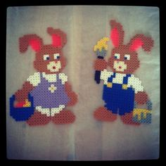 Easter bunnies hama beads by impiecesofme