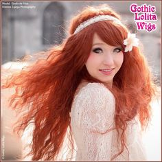 Gothic Lolita Wigs®  Rhapsody™ Collection - Auburn. I'm not sure about the texture, but over all I like this for Zarina.