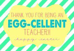 Egg-Cellent Easter Gift with Free prints for teacher, neighbor, friends, and more! { lilluna.com }