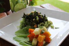 Arroz de Brócoli com Amêndoa e Passas.