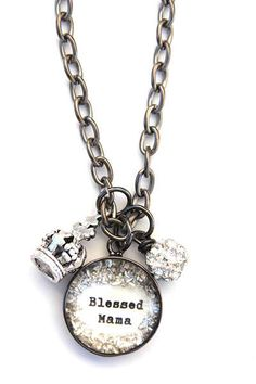 Beth Quinn Designs Blessed Mama Small Charm Necklace #BethQuinnDesigns #Necklace #Travisdavid