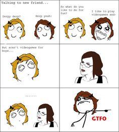girl gamer meme | The best memes: Gamer girl