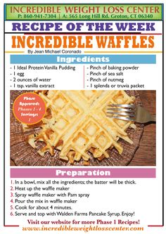Craving for some waffles? Then try these Ideal Protein - Phase 1 approved waffles! They are delicious!!