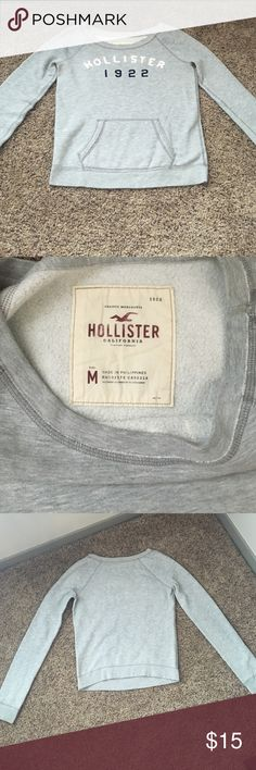 Hollister Sweatshirt Gray Hollister Wide Neck Sweater. Only worn a few times. Hollister Tops Sweatshirts & Hoodies