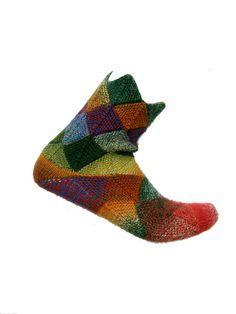 Fairytale socks Schoppel size EU 41/UK 8/US 10. $22.00, via Etsy.