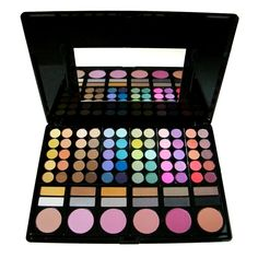 Eyeshadow and blush palette with a mirror - the best make-up friend. This  palette  combine two products in one package, which makes her very easy for carring and use. Contains the main and most important colors, that fact make your choice easier, before use. Promotional price €17.38