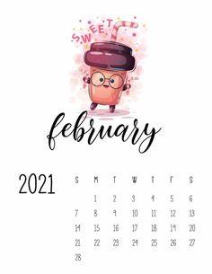 12 Cute Calenders 2021 2022 Ideas Calendar Printables February Calendar 2021 Calendar