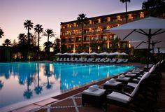 La Mamounia - Marrakech, Morocco : The Leading Hotels of the World La Mamounia, Mamounia Marrakech, Marrakech Morocco, Hotels And Resorts, Best Hotels, Beautiful World, Beautiful Places, Water Architecture, Morocco