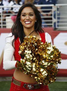 NFL cheerleaders - Preseason week 2 - San Francisco 49ers cheerleaders perform during the second half of an NFL preseason football game against the Dallas Cowboys in Santa Clara, Calif., Sunday, Aug. 23, 2015.