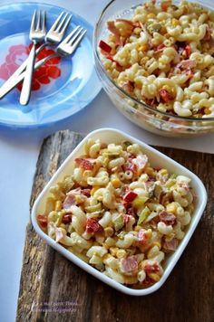 Salata de paste - Retete Timea Healthy Breakfast Recipes, Pasta Salad, Macaroni And Cheese, Food And Drink, Lunch, Ethnic Recipes, Suho, Parmesan, Ice Cream
