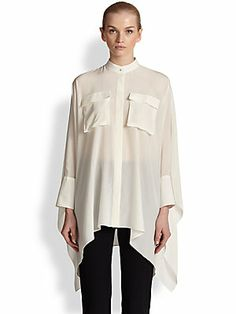 Alexander McQueen Crepe de Chine Voluminous Blouse| High Waisted Crepe Skinny Pants| Suede Crisscross Platform Sandals