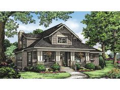 Home Plan HOMEPW75907 is a gorgeous 1997 sq ft, 2 story, 3 bedroom, 2 bathroom plan influenced by + Bungalow  style architecture.