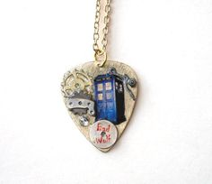 Doctor Who Tardis Bad Wolf Guitar Pick by TimeMachineJewelry