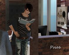 When your sims need to get some reading done.