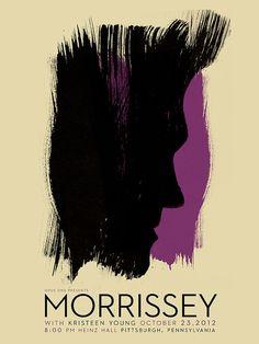 Morrissey Show Poster  Screenprint Limited door strawberryluna