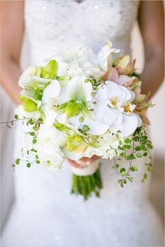 Orchid bouquet. Check out more bouquet choices and other wedding inspiration: chibiowl.com