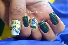 Nail Art World Cup Brazil 2014!!
