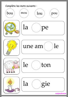 French Language Lessons, French Language Learning, French Lessons, French Teaching Resources, Teaching French, Kindergarten Learning, Preschool Education, Grade 1 Reading, Learning French For Kids