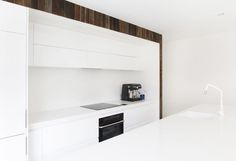 A winter-white kitchen.