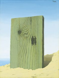 René Magritte (Belgian, 1898-1967), L'Horizon, 1938. Gouache on paper, 49 x 37cm.