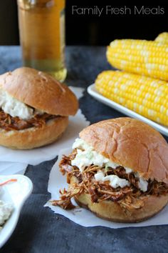 The Best Crockpot BBQ Chicken - FamilyFreshMeals.com -