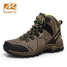 74.79$  Buy now - http://aliana.worldwells.pw/go.php?t=32749740703 - 2016 Merrto Women Waterproof Hiking Shoes Outdoor Hiking Boots For Women Breathable Genuine Leather Climbing Boots For Women