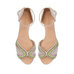 FLAT SANDALS WITH STRASS - Shoes - TRF | ZARA United States