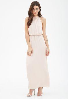 Chiffon Halter Maxi Dress   Forever 21 - 2000118701
