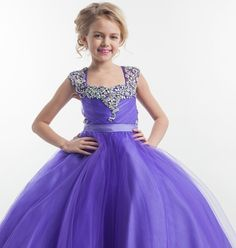 Flower girl dress,royal blue flower girl dress,princess flower