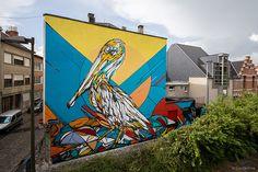 Artista belga Dzia cria grafites fantásticos em forma de animais!
